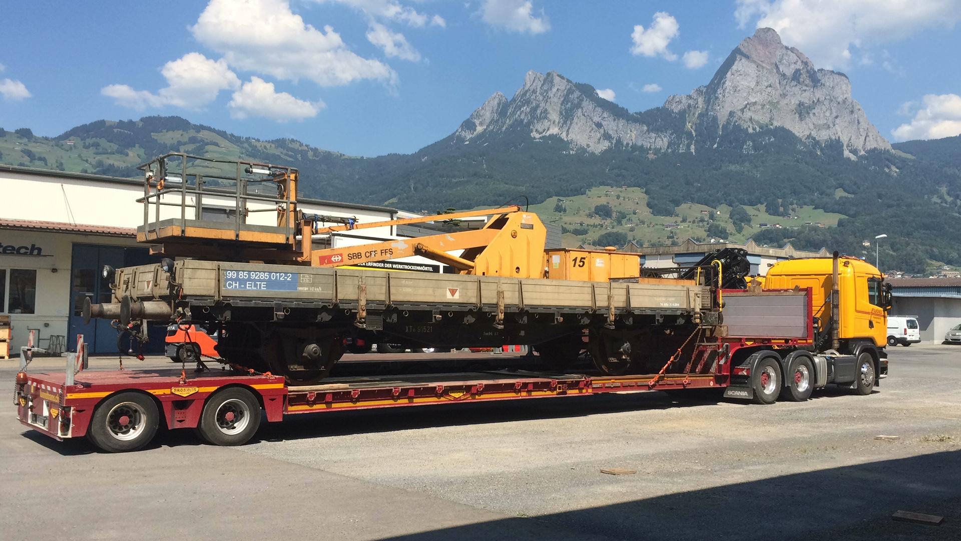 Elbatech AG, Bahnwagentransport nach Rheinfelden