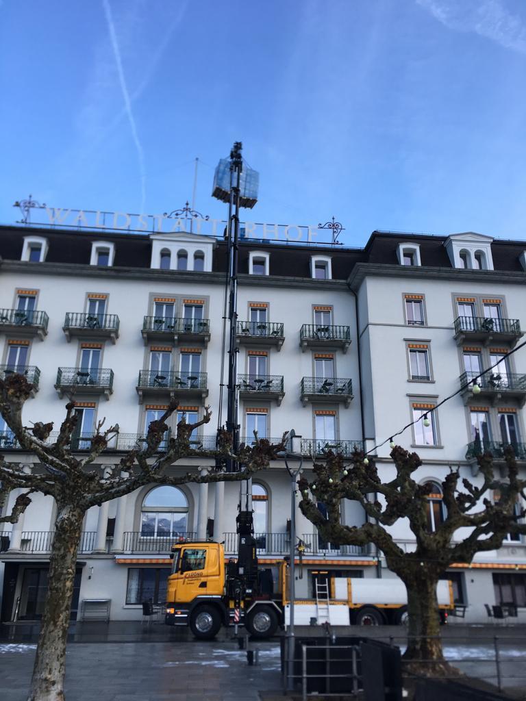 Felix von Rickenbach GmbH, Sanierung Estrich Hotel Waldstätterhof Brunnen