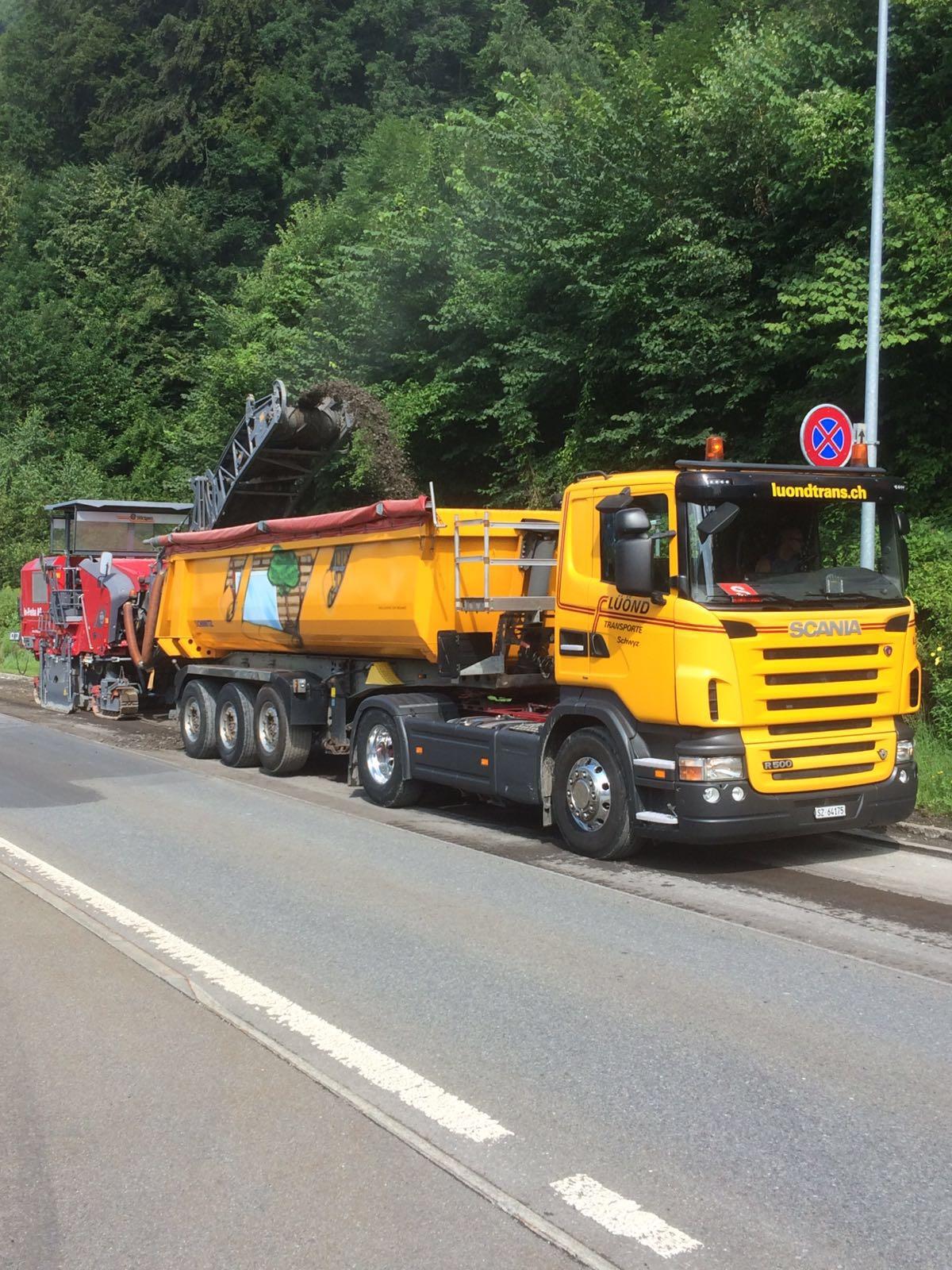 Käppeli Strassen- und Tiefbau AG, Fräsmaterial Fallenbach Brunnen