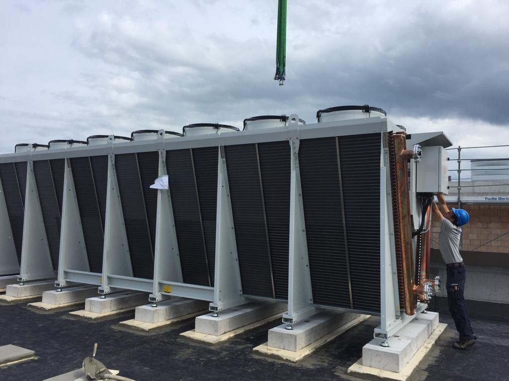 Niedermann AG, Rückkühler auf Dach platzieren