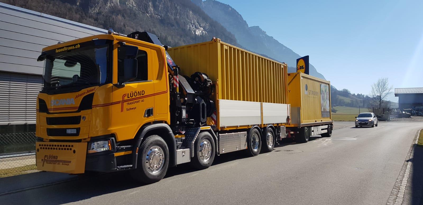 Strüby AG, Containertransport nach Flums SG